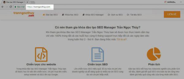 URL trang web xuất hiện trên thanh địa chỉ trình duyệt